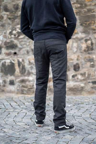 Billy Jeans Prime Wax black Motorradhose