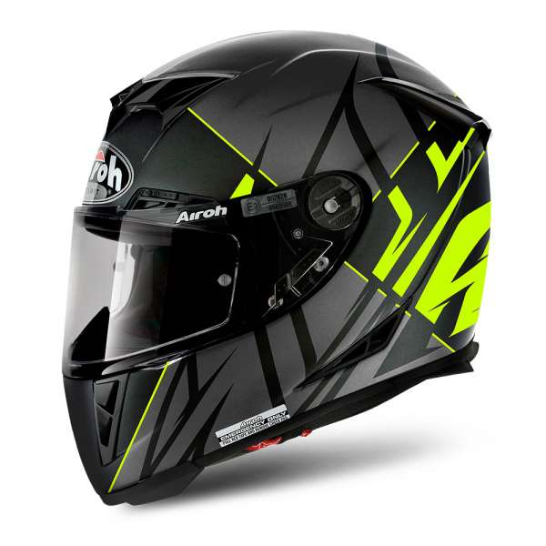 Airoh GP 500 Sectors Helm neon yellow