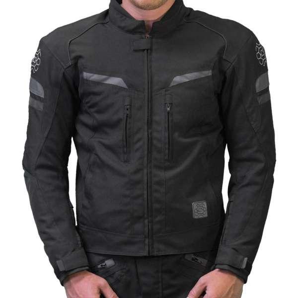 "Motorradjacke kurz ""Sport-Touring black/gray"""