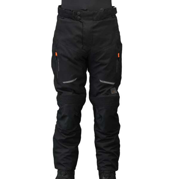 "Motorradhose ""Touring black/orange"""