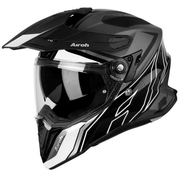 Airoh Commander Duo Helm schwarz-weiß