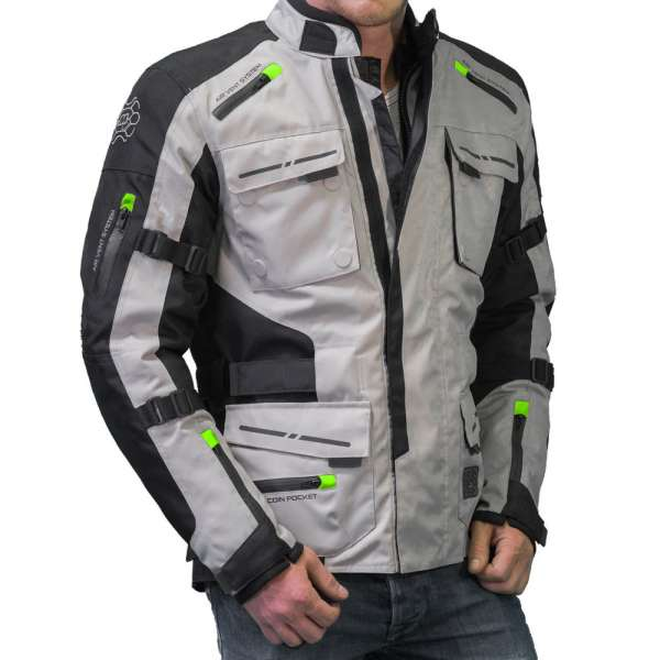 "Motorradjacke ""Touring grey/yellow"""