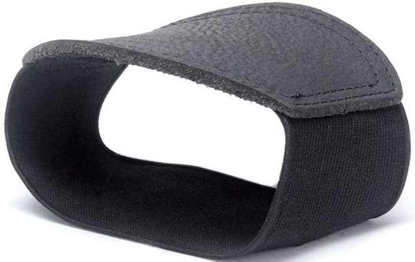 Schalthebelverstärkung Leder schwarz