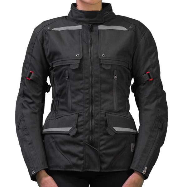 "Motorradjacke Damen ""Black-Lady"""