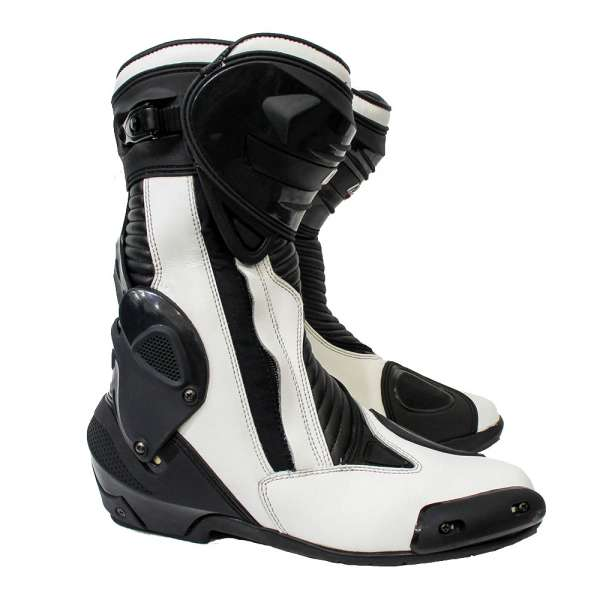 "Motorradstiefel Racing ""White Race"""