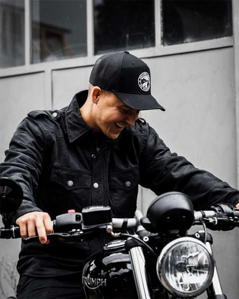 Motorradhemd Flanell Dark Black Grey Limited Edition Bobberbrothers