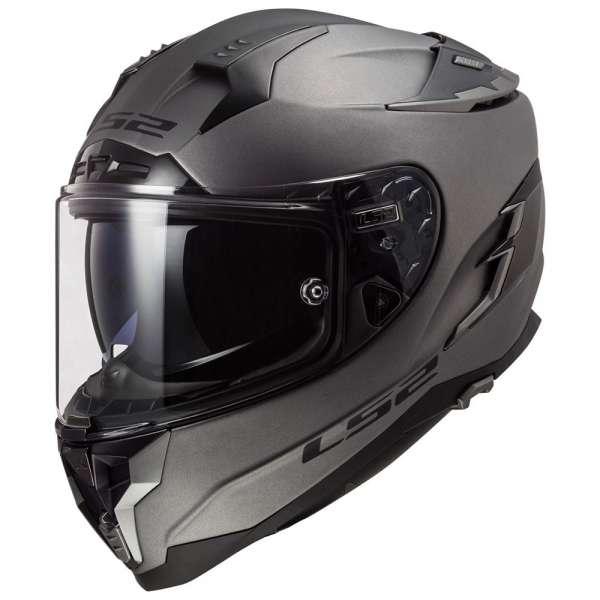 LS2 FF327 Challenger Solid Matt Titanium Helm Motorrad