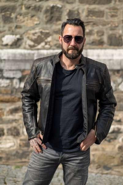 Motorrad Lederjacke Browning