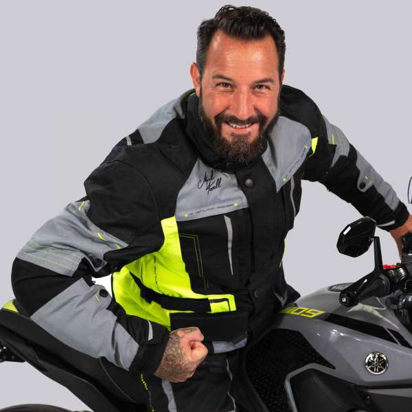 Motorradjacke Traffic Touring Fluo