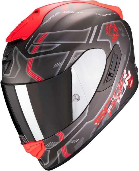 Scorpion EXO 1400 Air SPATIUM Silber-Matt-Rot Motorradhelm