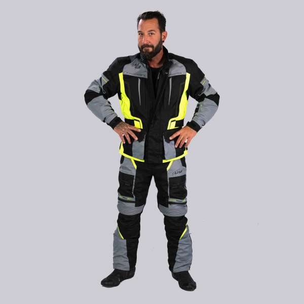 Motorradhose Traffic Touring Fluo