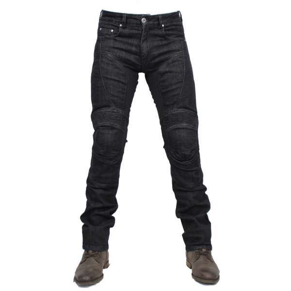 """Billy Jeans"" black men Motorradhose"