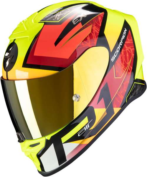 Scorpion EXO R1 Air INFINI Schwarz-rot-gelb fluo Motorradhelm