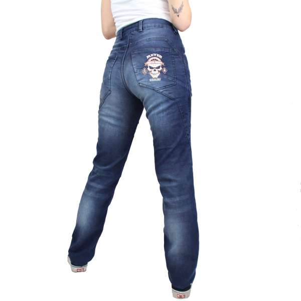 """Billy Jeans"" blue woman Motorradhose"