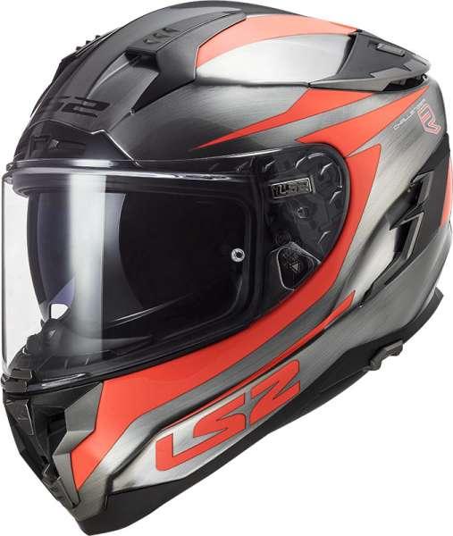 LS2 FF327 Challenger Cannon Jeans Fluo Orange Motorrad Helm