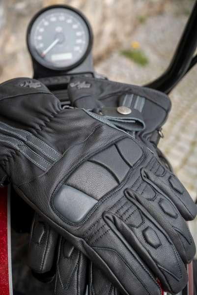 Motorradhandschuh Winter Leder Stripes