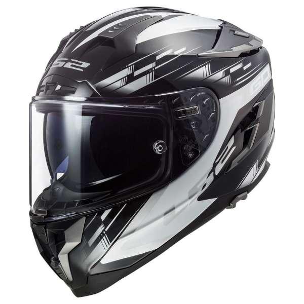 LS2 FF327 Challenger GP Helm schwarz-weiß Helm