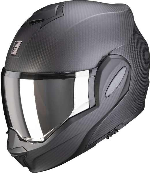 Scorpion Exo-Tech Carbon Solid Klapphelm schwarz matt