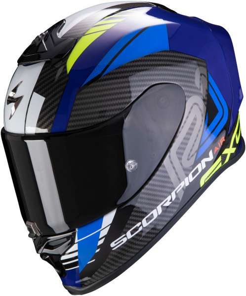 Scorpion EXO R1 Air Halley Blau Neon-Gelb Motorradhelm