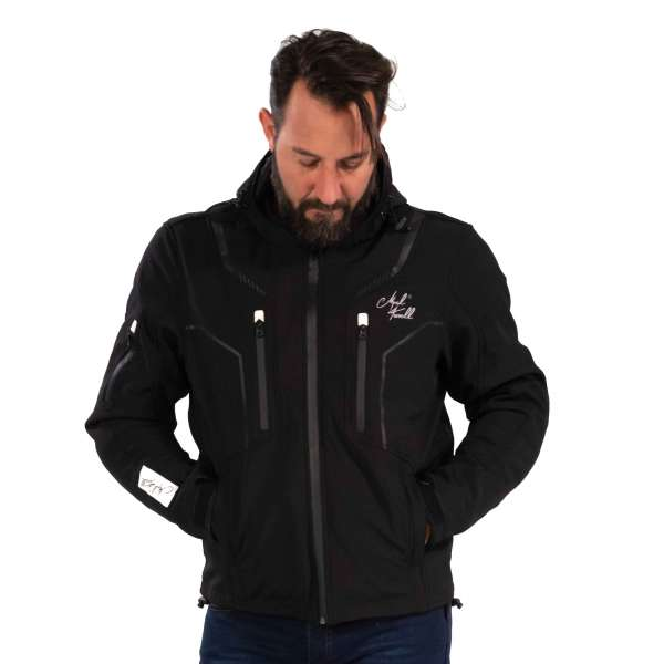 Motorradjacke Traction Softshell black