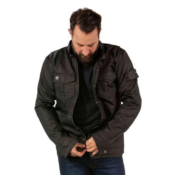 Motorradhemd Prime Wax black