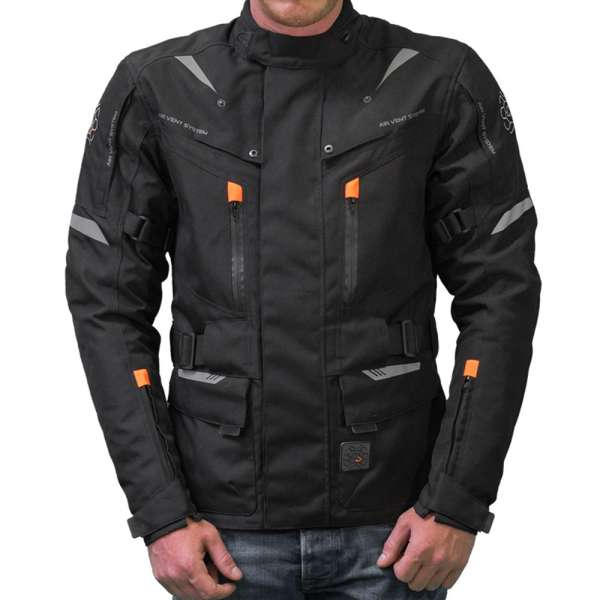 "Motorradjacke ""Touring black/orange"""
