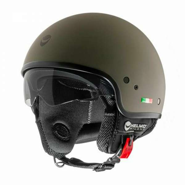 Helmo Milano Jethelm rubber green army