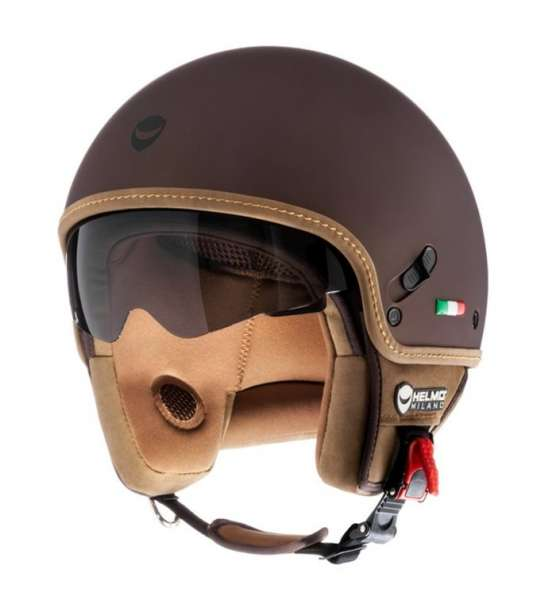 Helmo Milano Puro Stile rubber brown Jethelm