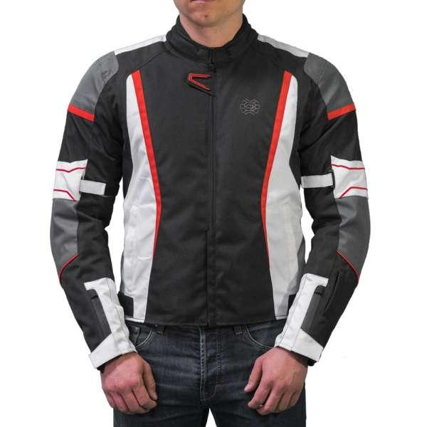 "Motorradjacke kurz ""Tricolore design"""